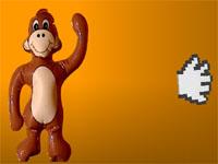 Скачать флеш игру Швырнуть обезьянку.