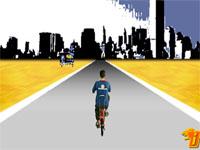 Скачать флеш игру Велосипедист.