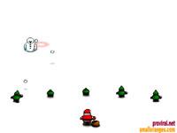 Скачать флеш игру Когда снеговики атакуют.