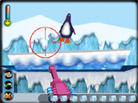 Скачать флеш игру Аркада с пингвинами.