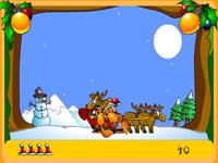 Скачать флеш игру Сани Санта Клауса.