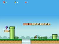 Скачать флеш игру Sonic team Mario.