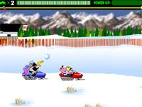Скачать флеш игру Гонки на снегоходах