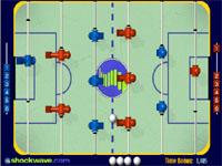 Скачать флеш игру Настольный хоккей.