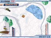 Скачать флеш игру Гонки на снегоходе.