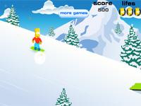 Скачать флеш игру Симпсон на сноуборде