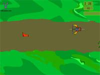 Скачать флеш игру Слалом на велосипеде.