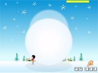 Скачать флеш игру Снежный ком.