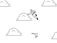 Скачать флеш игру Летающий парень.