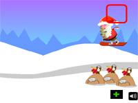 Скачать флеш игру Новогодний сноубординг.
