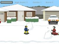 Скачать флеш игру Снежная битва.